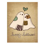 fantasmas del feliz Halloween Tarjeta Postal