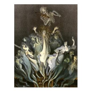 Fantasmas fantasmagóricos de Halloween del vintage Postal