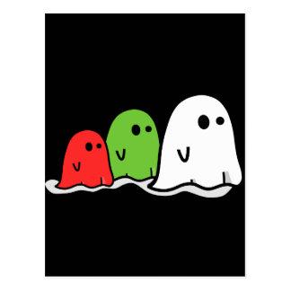 Fantasmas italianos Kawaii del feliz Halloween Postales