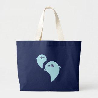 Fantasmas lindos bolsas lienzo