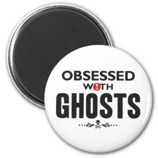 Fantasmas obsesionados imán redondo 5 cm