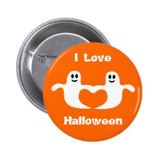 Fantasmas que sostienen el botón de Halloween del  Pin Redondo De 2 Pulgadas