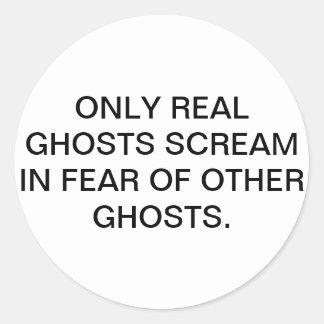 Fantasmas reales etiqueta redonda