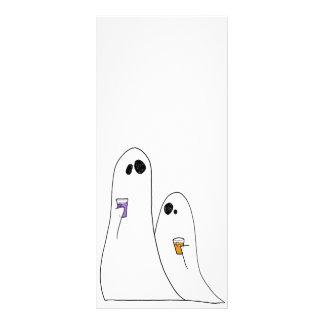 Fantasmas Tarjeta Publicitaria A Todo Color