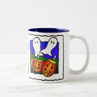 """""""Fantasmas, taza de Halloween de las calabazas"""""""