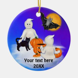 Fantasmas y amigos de Halloween Ornamente De Reyes