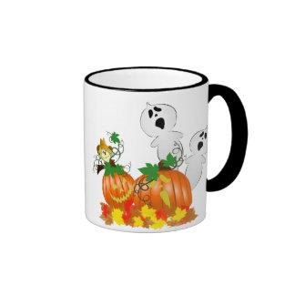 Fantasmas y calabazas divertidos de Halloween Tazas De Café