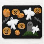 Fantasmas y calabazas Mousepad de Halloween