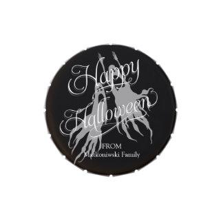 Fantasmas y espíritus necrófagos del feliz frascos de caramelos