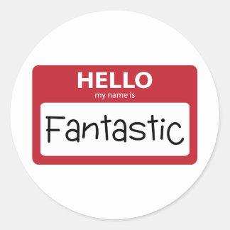 fantastic 001 classic round sticker