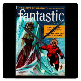 Fantastic - 1957.9_Pulp Art Square Wall Clock