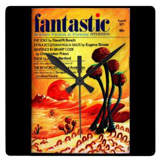 Fantastic - 1971.08_Pulp Art Square Wall Clock