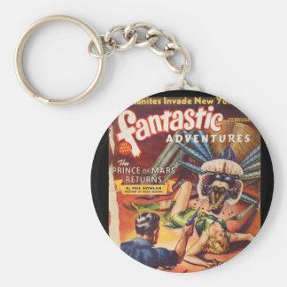 Fantastic Adventures 1940_Pulp Art Keychain