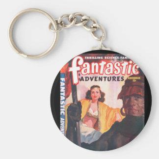 Fantastic Adventures 48-11_Pulp Art Basic Round Button Keychain