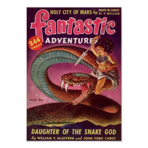 Fantastic Adventures -- Daughter of the Snake God