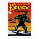 Fantastic Adventures - Giant From Jupiter Postcard