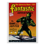 Fantastic Adventures - Giant From Jupiter Poster
