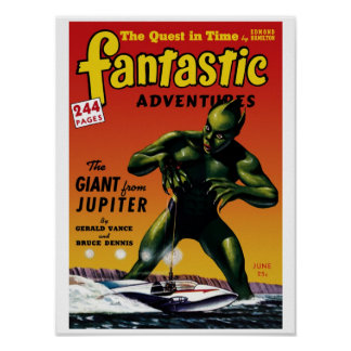 Fantastic Adventures - Giant From Jupiter Poster