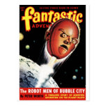 Fantastic Adventures - Robot Men of Bubble City Postcard