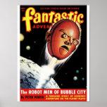 Fantastic Adventures - Robot Men of Bubble City Poster