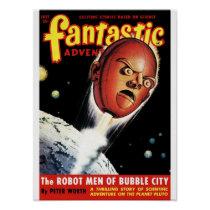 Fantastic Adventures - Robot Men of Bubble City Poster
