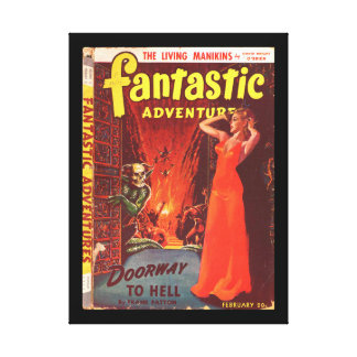 Fantastic Adventures v04 n02 (Feb 1942)_Pulp Art Canvas Print