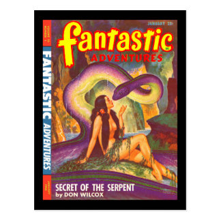 Fantastic Adventures v10 n01 (Jan 1948)_Pulp Art Postcard