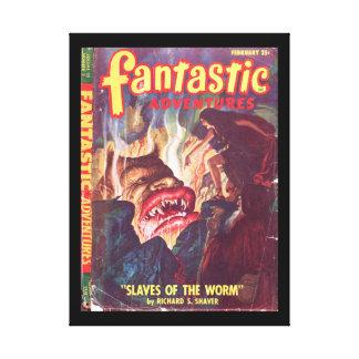 Fantastic Adventures v10 n02 (Feb 1948)_Pulp Art Canvas Print