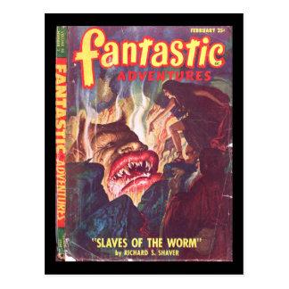 Fantastic Adventures v10 n02 (Feb 1948)_Pulp Art Postcard