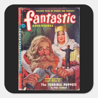 Fantastic Adventures v13 n09 (1951-09)_Pulp Art Square Sticker