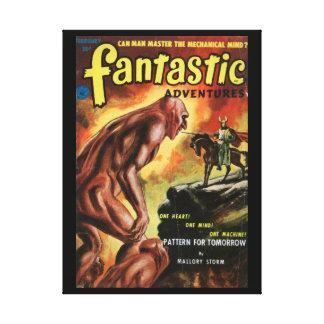 Fantastic Adventures v14 n02 (Feb 1952)_Pulp Art Canvas Print