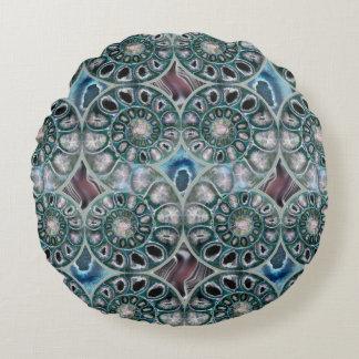 Fantastic Ammonites Round Pillow
