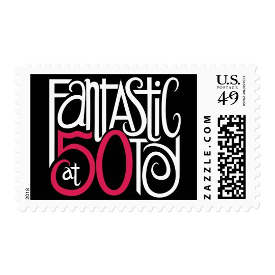 Fantastic at 50 white Stamp