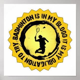 Fantastic Badminton Seal Poster