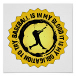 Fantastic Baseball Seal Print