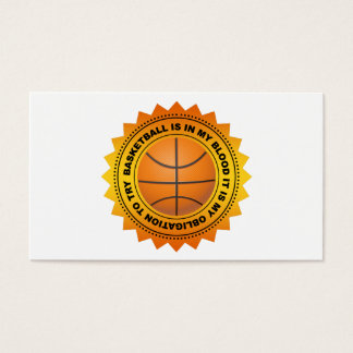 Fantastic Basketball Shield Business Card
