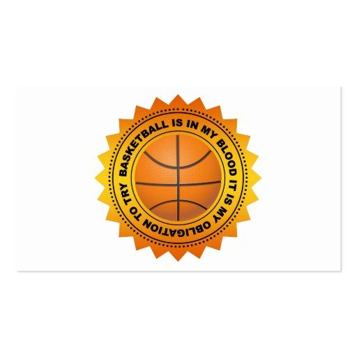 Fantastic Basketball Shield Business Card Template