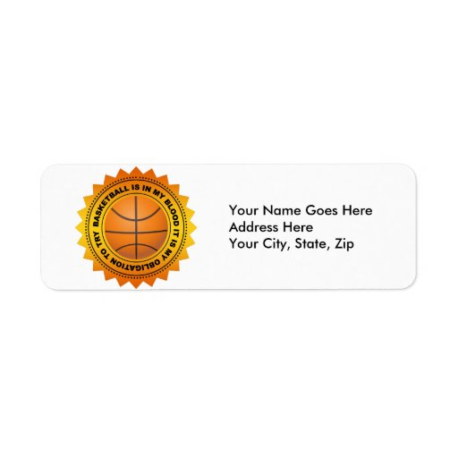 Fantastic Basketball Shield Label