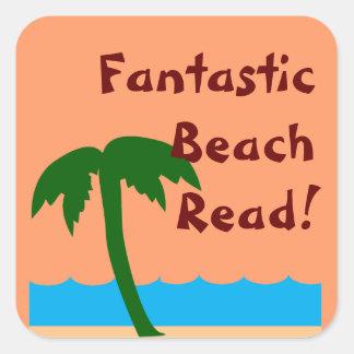Fantastic Beach Read Promo Square Sticker