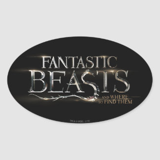 Fantastic Beasts And Where To Find Them Logo Oval Sticker