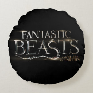 Fantastic Beasts And Where To Find Them Logo Round Pillow