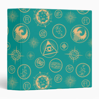 Fantastic Beasts And Where To Find Them Pattern 3 Ring Binder