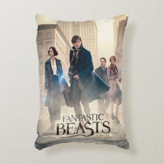 Fantastic Beasts City Fog Poster Decorative Pillow