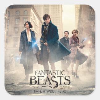 Fantastic Beasts City Fog Poster Square Sticker