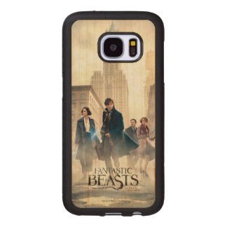 Fantastic Beasts City Fog Poster Wood Samsung Galaxy S7 Case