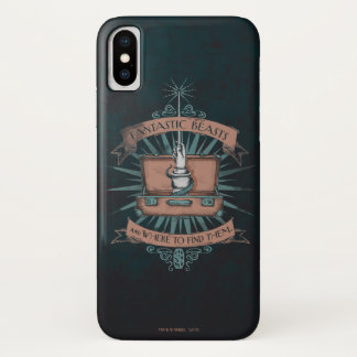 Fantastic Beasts Newt's Briefcase Graphic iPhone X Case