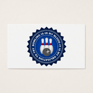 Fantastic Bowling Shield Business Card