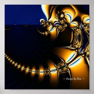 Fantastic - Chasing the Dragon Fractal Poster
