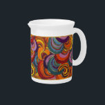 """Fantastic Colorful Bloomsbury Swirls Beverage Pitcher<br><div class=""""desc"""">Add this wonderfully cheerful and colorful pitcher to your tea set. It was inspired by the famous London&#39;s Bloomsbury Group art movement.</div>"""