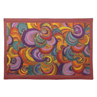 Fantastic Colorful Bloomsbury Swirls Placemat